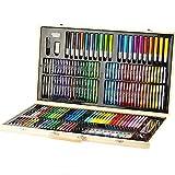 ChenYongPing Set de Pintura y Dibujo Pintura Pincel Herramienta Acuarela crayones for niños Juego de Regalo de 188 Pedazos del Regalo de cumpleaños para Artistas (Color : Yellow, Size : 55x30x5cm)