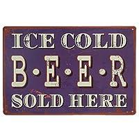 Ice Cold Beer ティンサイン ポスター ン サイン プレート ブリキ看板 ホーム バーために