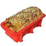 Walfos Moldes de Silicona para Hornear Pan, Moldes de Pan Rectangular, Moldes no pegajosos para tortas y Pan caseros, sin BPA