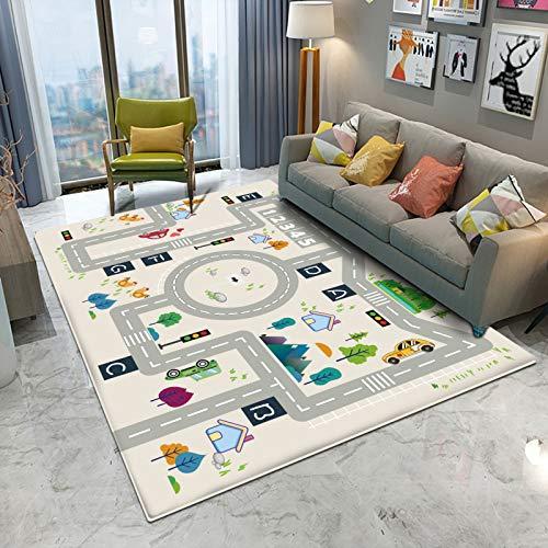 Alfombra Bebe de Habitacion Salon Exterior 3D Redonda Alfombras Infantiles (D69-1, 140x200cm,55x78.7)