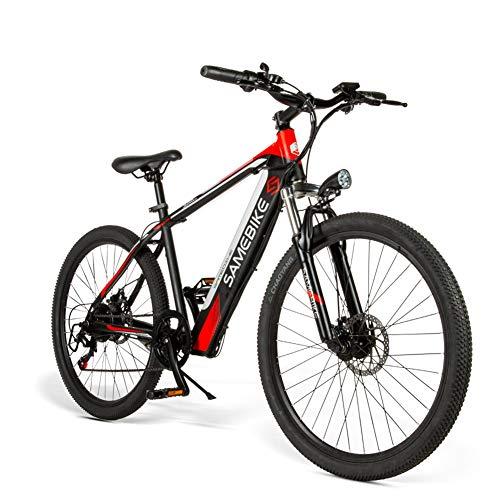 CHJ Bicicleta Montaña Eléctrica para Adultos de 26 Pulgadas, Aleación de Magnesio E-MTB, Batería Iones Litio Extraíble de 400 W Y 48 V, Bicicleta Todo Terreno de 27 Velocidades, Macho Y Hembra