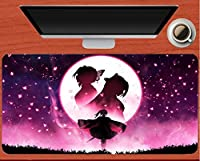 マウスパッド ゴーストブレードスレイヤーバタフライ忍者アニメマウスパッド滑り止めコンピューターキーボードマウスパッドゲーム大型マウスパッド(J)