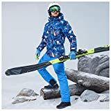 Juego de chaqueta de esquí y pantalones – impermeable para montaña, nieve, snowboard, invierno, al aire libre, resistente al viento, traje de nieve para hombres, 1,2XL