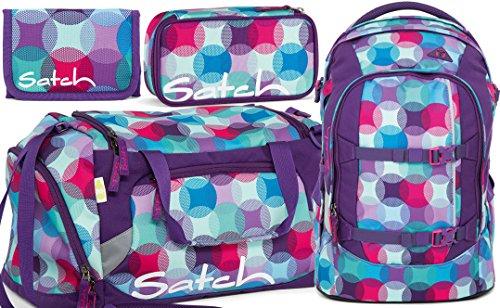 satch pack Hurly Pearly 4er Set Rucksack, Sporttasche, Schlamperbox & Geldbeutel