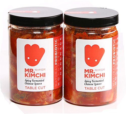 2 X 330g Freshly UK- Made Kimchi Based on Authentic Korean Recipe (Natural Fermentation, Natural Probiotics, No Artificial Additives)