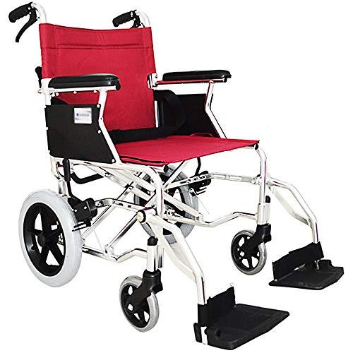 Silla de ruedas, transpirable Oxford tela del asiento, bastidor reforzado de aleación de aluminio, ligero y fácil de plegar, la esponja suave de los apoyabrazos, de alta resistencia de la silla de rue