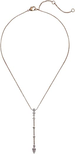 Linear Pave Bar Necklace