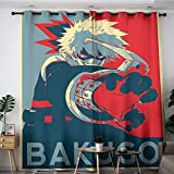 My Hero Academia - Cortinas de cocina con dibujos animados (35), 213 x 137 cm, cortinas opacas para dormitorio