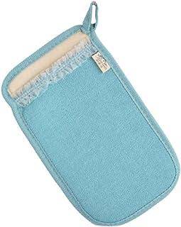 Double Side Strap Scrubber Bath Mitt Glove for Shower Spa Body Back Exfoliating Mud Dead Skin Remover, Blue