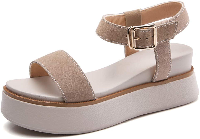 T-JULY Women Casual High Wedges Heel Sandals Ladies Open Toe Platform Sandal Fashion Summer Comfortable Sandals