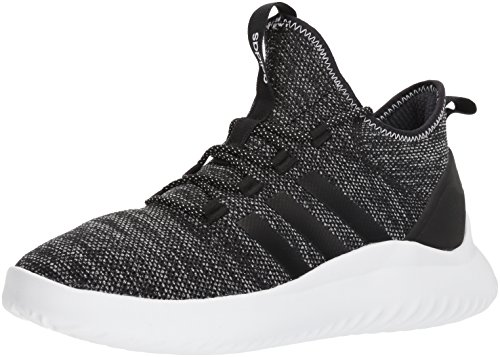 adidas Men's Ultimate Bball Basketball Shoe, Black/Black/White, 11 M US