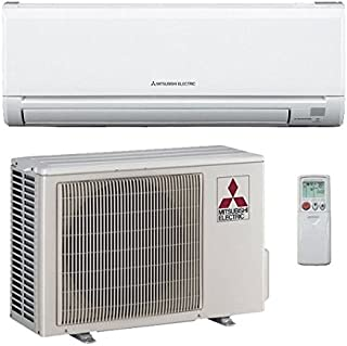 Mitsubishi 15,000 Btu 21.6 Seer Single Zone Ductless Mini Split Heat Pump System (AC and Heat)