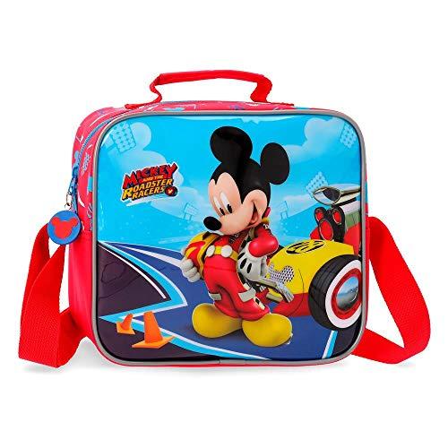 Disney Lets Roll Mickey Neceser Adaptable con Bandolera Multicolor 23x20x10 cms Poliéster