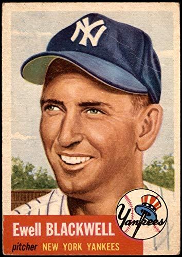1953 Topps # 31 Ewell Blackwell New York Yankees (Baseball Card) GOOD Yankees