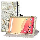 LFDZ Funda MatrixPad S20,Cuero Sintético Rotación de 360 Grados de Función de Soporte para Vankyo MatrixPad S20 10 Inch Tablet/Yuntab D107 Tablet(Not fit MatrixPad S30),Mapa