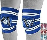 RDX Genouillère Bandage Musculation Fitness Protège Genou, Sangles de Genou pour Haltérophilie Entraînement, Powerlifting, Squats,Élastique Sport Knee Wraps