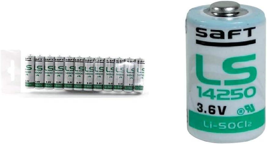 Pack Of 12 Saft Ls 14500 Aa 3 6 V Li Socl2 Batteries Elektronik