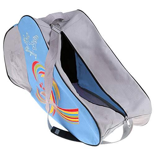 Sharplace - Bolsa para Botas de Patinaje sobre Ruedas en Línea, Patines de Hockey, Bolsa de Almacenamiento para Casco - Negro - Azul