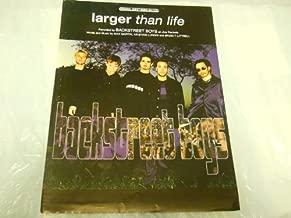 LARGER THAN LIFE BACKSTREET BOYS 1999 SHEET MUSIC FOLDER 576