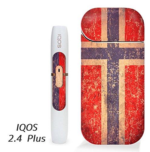 アイコス用 スキンシール ( 2.4Plus 用 ) ノルウェー 国旗 (アンティーク) シール ステッカー iQOS用,