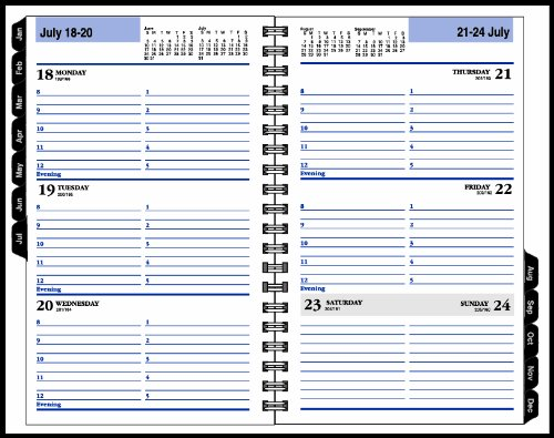 DayMinder 2014 Premiere Weekly Appointment Book, Black Hard Cover, 8.38 x 5.63 x .75 Inches (G210H-00) Photo #7