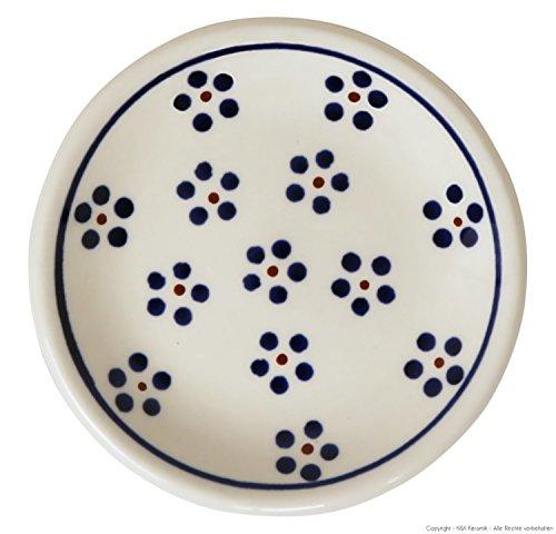 kleiner Original Bunzlauer Keramik Teller (Untertasse) Ø11,6 cm Dekor 1
