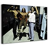 Canvas Wall Pictures Cow Paintings Canvas Arnold Schwarzenegger Wilt Chamberlain And Andre The Posters Hand Painted Canvas Wall Art 16x12inch