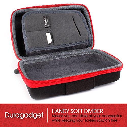 DURAGADGET Black & Red Protective Generic Camera Case - Compatible with Sony NEX-5T | NEX-6L | NEX 5R | NEX-6 | NEX-6L | NEX-7 | RX100 II | DSC-RX100M2 | RX1R | DSC-RX1RM2 | A7R | 5N & F3