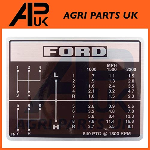 APUK LH Side Light Lamp Marker compatible with Ford 2000 3000 4000 5000 7000 2600 3600 4600 Tractor