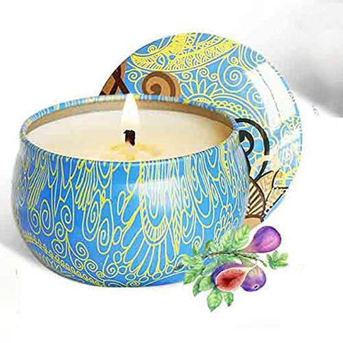shian Vela de aromaterapia, hojalata sin Humo, Cera de Soja Natural, Vela de aromaterapia, decoración del hogar, el Olor de los higos