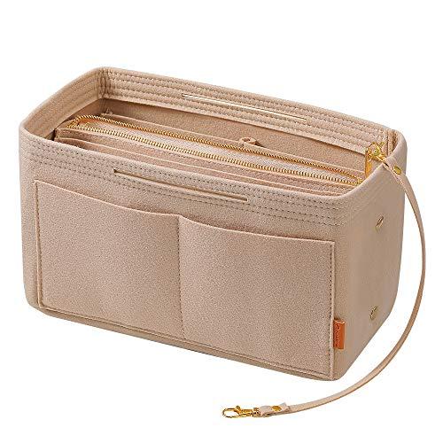 Pocket organizer Avoalre Bag in Bag Pocket Organizer, LV pocket organizer vilten grijze handtas map met ritssluiting (29cm x 15cm x 18cm)
