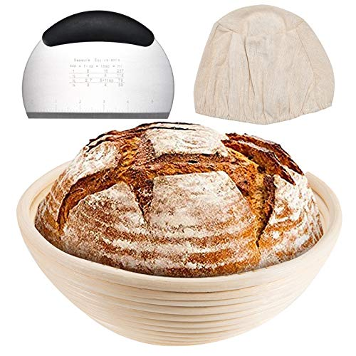 Banneton Bread Proofing Basket bowl 9 inch Baking Bowl Dough Gifts for Bakers Proving proofing basket for Sourdough bread