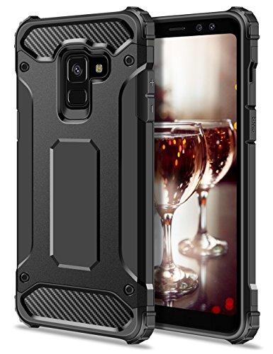 Coolden Samsung Galaxy A8 2018 Hülle, Outdoor Stoßfest Schutzhülle Tough Silikon Bumper Premium [Armor Serie] Handyhülle für Samsung Galaxy A8 2018 (Schwarz)