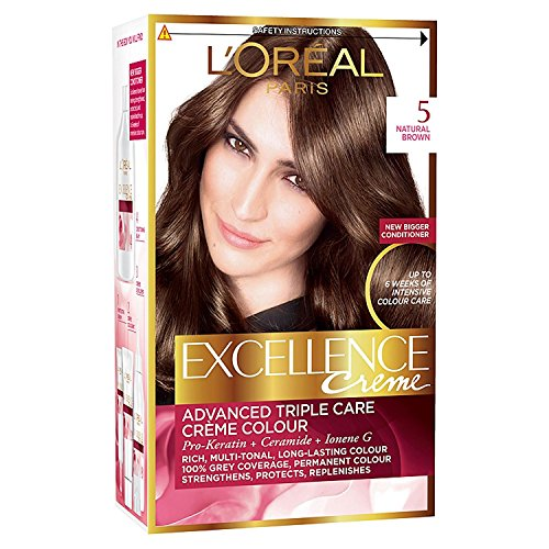 3 x L'Oreal Paris Excellence Creme Triple Care Creme Colour 5 Natural Brown
