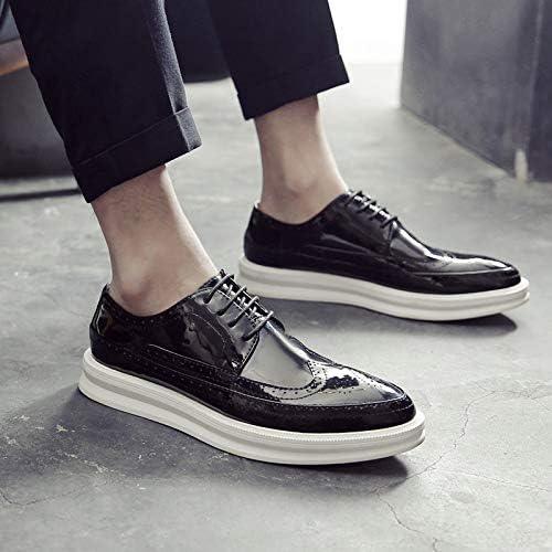 LOVDRAM Bottes Homme Nouvelle Mode pour Hommes Brock Chaussures Sculptées Chaussures pour Hommes Brillants Chaussures De Sport