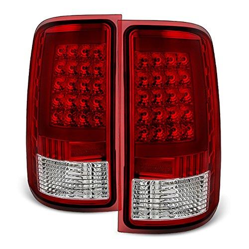 For 2007-2013 GMC Sierra 1500 | 2007-2014 Sierra 2500HD 3500HD LED Light Tube Style Taillights Pair Set