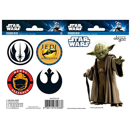 ABYstyle ABYDCO159 - stickers, Star Wars Yoda/symbolen