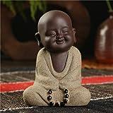LKXZYX Statue Bouddha Statuette Exterieur boudha Deco Interieur Jardin Grande Miniature Figurines De Sable Statues À Thé Petits Moines Sable Céramique Home Club Décoration Géomantique