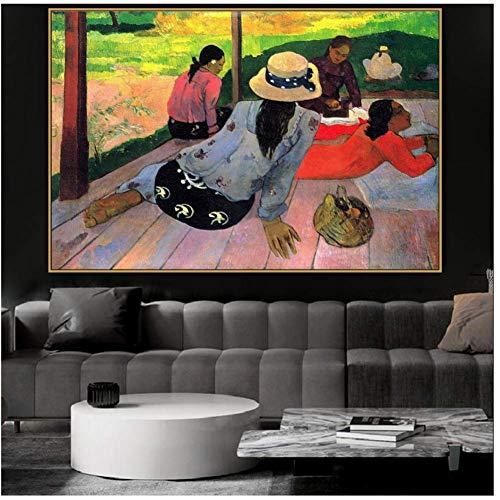 Paul Gauguin Oude Beroemde Meester Artiest Het Canvas Schilderij Poster en Print voor Woonkamer en Home Decor Wall Art -60x90cmx1pcs- Geen Frame