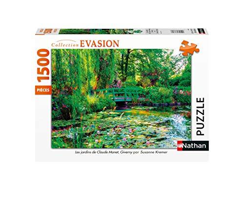 Nathan- Puzzle 1500 pièces Les jardins de Claude Monet, Giverny Puzle Adulto, Color (Ravensburger 4005556878000)