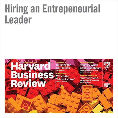 Hiring an Entrepreneurial Leader copertina