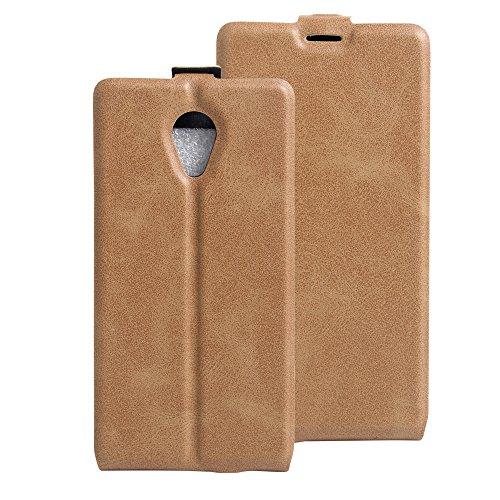 Litao-Case CN Hülle für WIKO S-Kool hülle Flip Leder + TPU Silikon Fixierh Schutzhülle Case 7