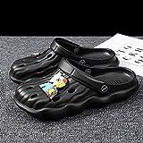 Kirin-1 Sandalias Cangrejeras Mujer para La Playa,Zapatos Y Complementos,Zapatillas De Verano Masculinas Sandalias De Hombres De La Personalidad De La Playa Anti-Lover-45_mi