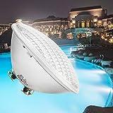 COOLWEST Iluminación LED Para Piscinas, Luz Subacuática Blanca de 54W, Iluminación Para Estanques a Prueba de Agua IP68, Foco de Piscina Exterior AC/DC 12V Bajo el Agua Para Acuario, Luz de Jardín