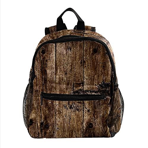 Rucksäcke für Kinder Holz Rustikal Schultasche für Kinder von 3-8 Jahren Kleiner Rucksack Kinderrucksack Für Kindergarten Vorschule 25.4x10x30CM
