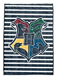 Harry Potter Hogwarts Weighted Blanket 4.5 lbs - Measures 36 x 48 inches, Kids Bedding Features Gryffindor, Ravenclaw, Slytherin, & Hufflepuff - Super Soft Velboa - (Official Harry Potter Product)