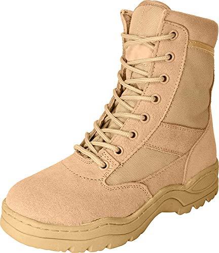 McAllister Army Outdoor Boots Patriot Style Stiefel mit Schnellverschluss Arbeitsschuhe Kampfstiefel Securitystiefel Schwarz 37-47 (41)