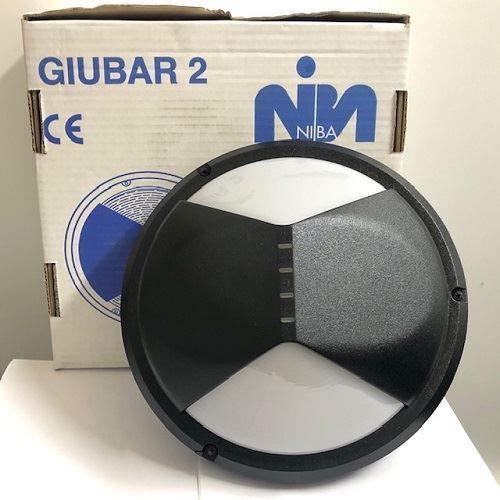 Plafondlamp voor buiten GIUBAR 2 1 x E27 zwart Opal NIBA 3611 OP NE
