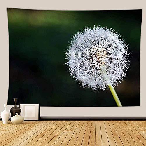 Yhjdcc H?ngende Wandkunst Tapisserie Dekorative Wandteppich Pflanze Thema L?wenzahn Tischdecke 150cm x 200 cm
