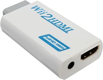 Wii HDMI Video Converter - TOOGOO (R)Wii HDMI Wii2HDMI Full HD FHD 1080P adaptateur convertisseur 3,5 mm Sortie audio Jack